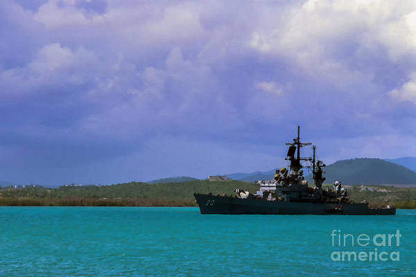 Photograph - Uss Richmond K. Turner Cg 20 by Thomas R Fletcher