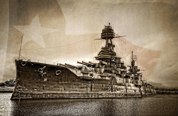 Wwi Wall Art - Photograph - U.s.s. Texas by Ken Smith
