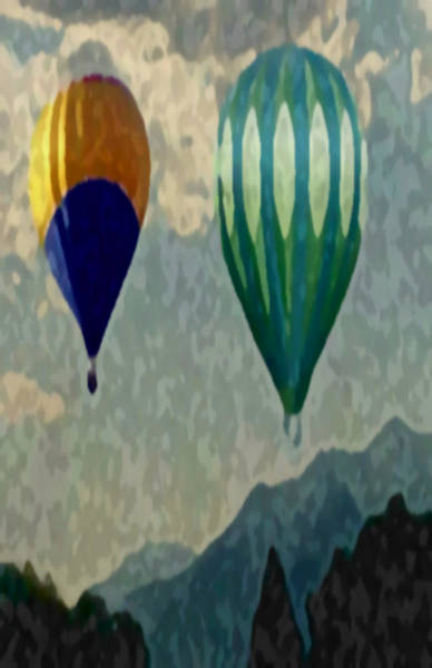 Mixed Media - Utah Balloons by Dennis Buckman