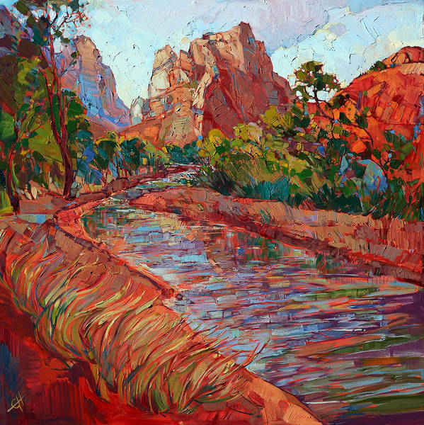 Zion Painting - Utah In Color by Erin Hanson
