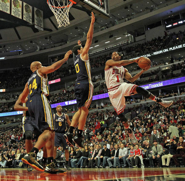 Chicago Photograph - Utah Jazz V Chicago Bulls by Jonathan Daniel