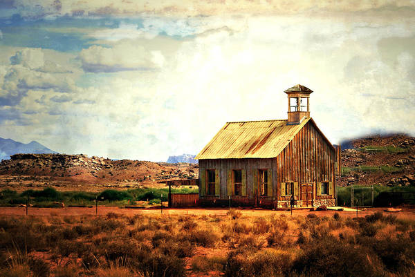 Photograph - Utah Schoolhouse by Marty Koch