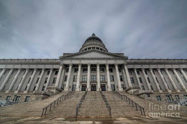 Capitol Building Photograph - Utah State Capitol Building by Michael Ver Sprill