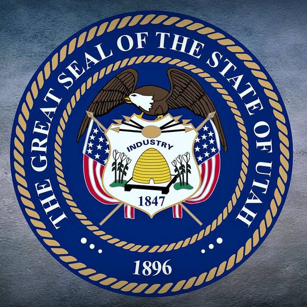 Digital Art - Utah State Seal by Movie Poster Prints