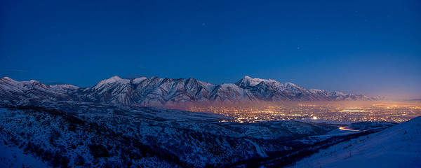 Range Photograph - Utah Valley by Chad Dutson