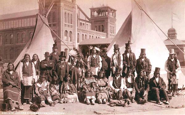 Indian Brave Digital Art - Ute Indians Denver Exposition by Studio Photo