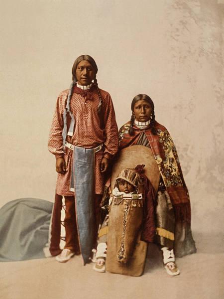 1890s Photograph - Ute Jose Romero And Family by William Henry Jackson