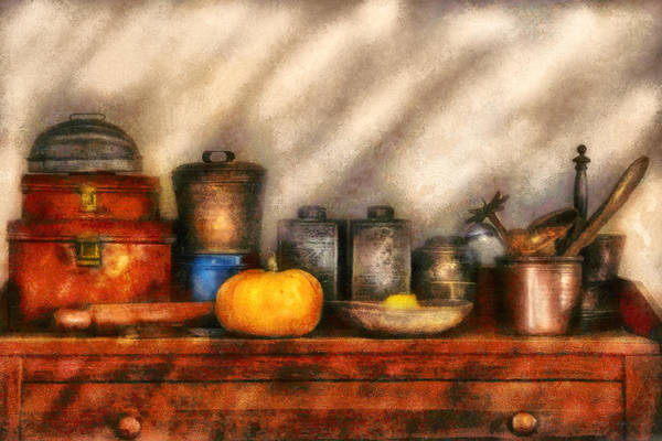 Tin Box Photograph - Utensils - Kitchen Still Life by Mike Savad