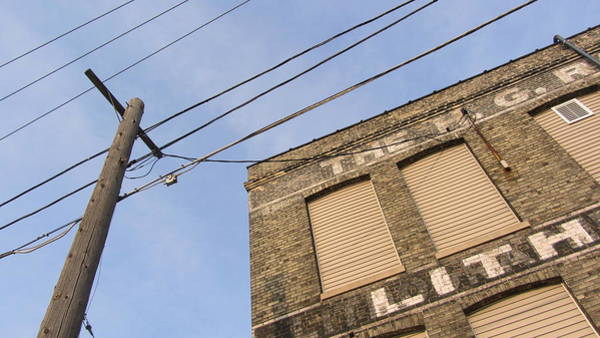 Photograph - Utility Lines And Lithographer 1 by Anita Burgermeister