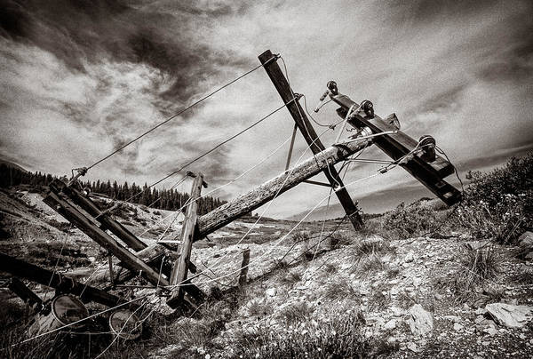 Utility Pole Photograph - Quartz Mountain 26 by YoPedro