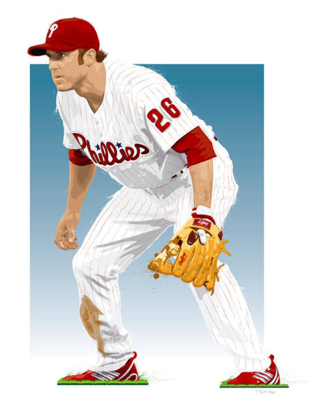 Philly Wall Art - Digital Art - Utley In The Ready by Scott Weigner