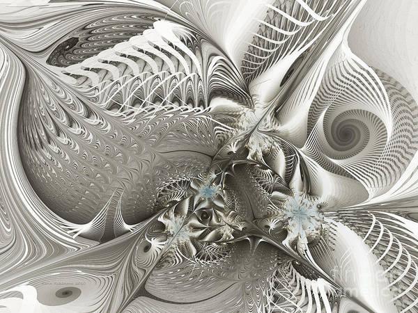 Digital Art - Utopia-fractal Art by Karin Kuhlmann