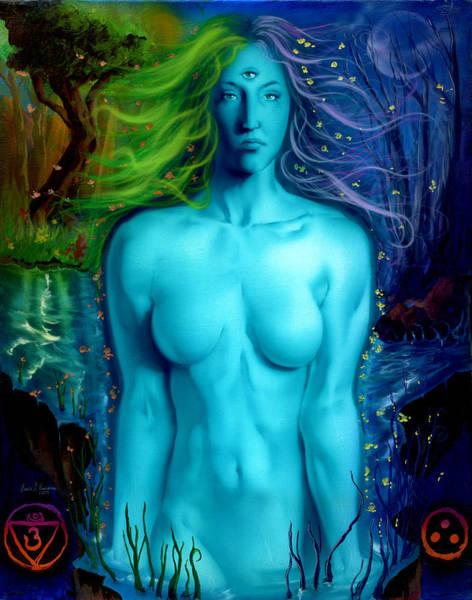 Seer Wall Art - Painting - Utopian Seer by Luis  Navarro