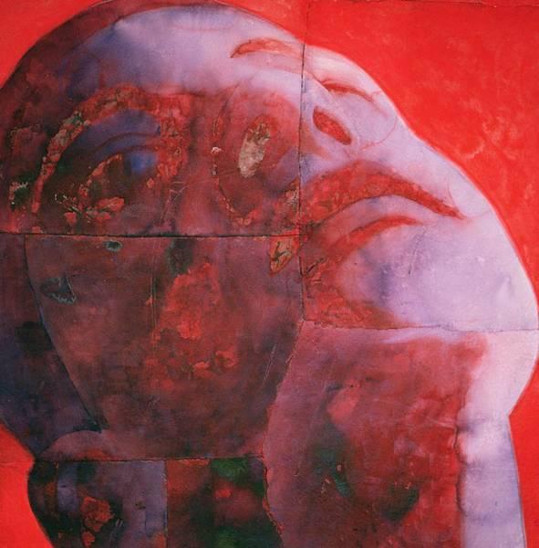 Dye Painting - Uv Head by Graham Dean