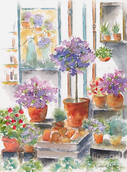 Painting - Uzes Market by Pat Katz