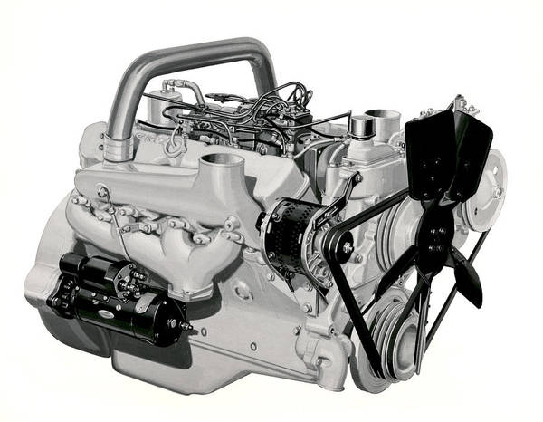 Toro Wall Art - Photograph - V-8 Gmc Diesel Engine by Underwood Archives