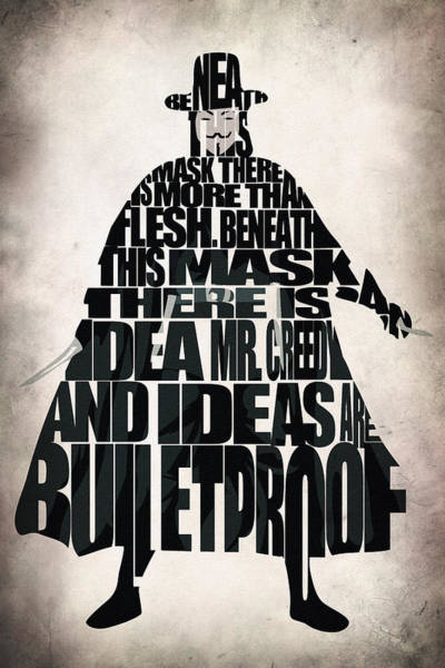 Mask Digital Art - V For Vendetta by Inspirowl Design