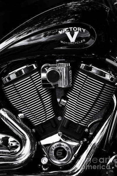 Victory Motorcycle Photograph - V For Victory by Tim Gainey