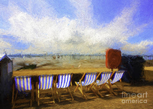 Wall Art - Photograph - Vacant Deckchairs  by Sheila Smart Fine Art Photography