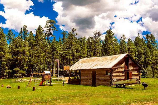Photograph - Vacation Cabin Happy Jack Arizona by Bob and Nadine Johnston