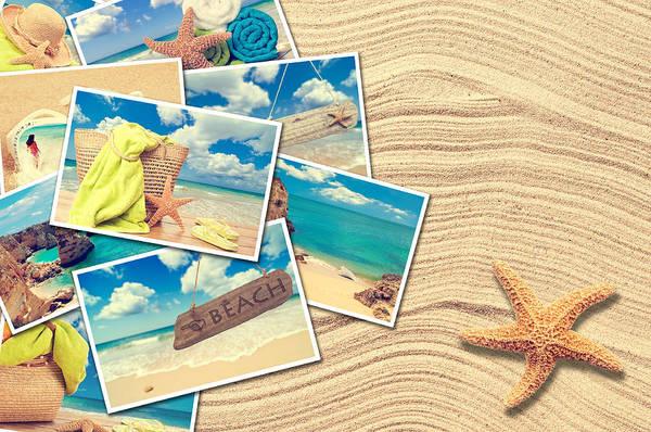 Flip Flops Photograph - Vacation Postcards by Amanda Elwell