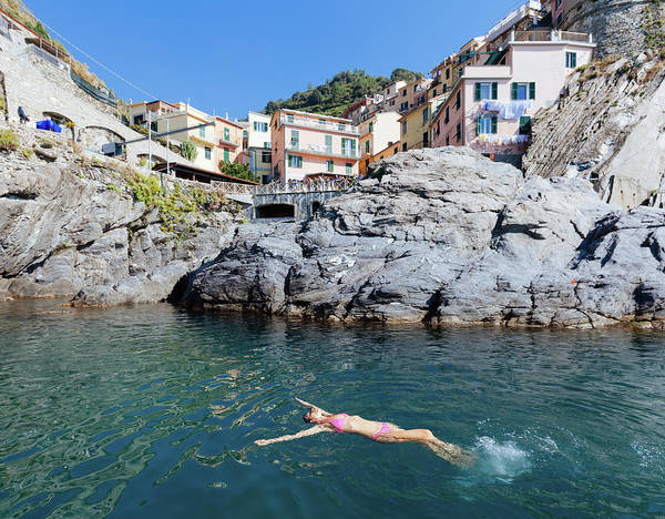 Bikini Photograph - Vacation Swimming Italy by M Swiet Productions