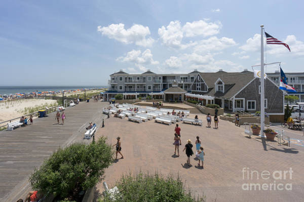 Photograph - Vacationers Visit The Boardwalk And Bandstand In Bethany Beach by William Kuta