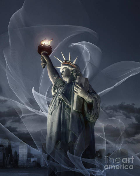 Photograph - Light Of Liberty by Edmund Nagele