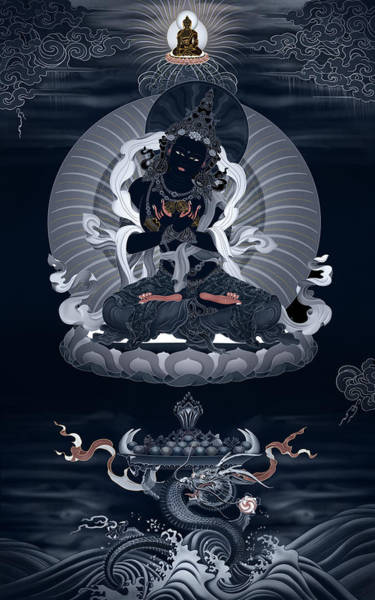 Thangka Painting - Vajradhara And The Realm Beyond All Words by Ben Christian