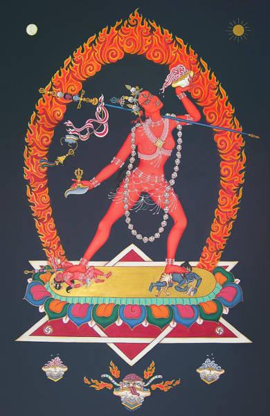 Tibetan Painting - Vajrayogini by Carmen Mensink