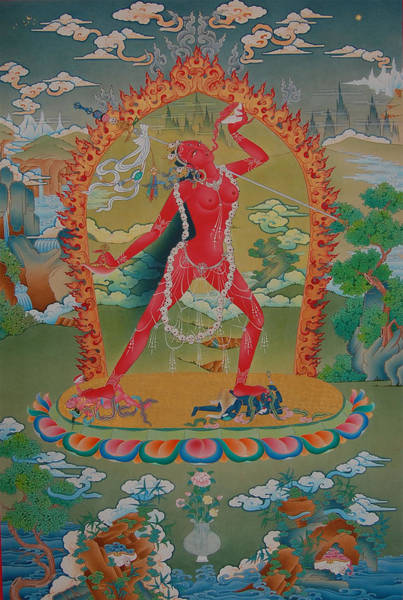 Tibetan Painting - Vajrayogini Of The Sakya Tradition by Images of Enlightenment