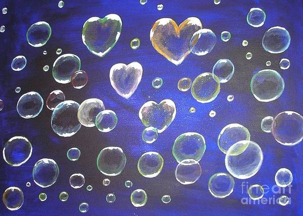 Painting - Valentine Bubbles by Karen Jane Jones