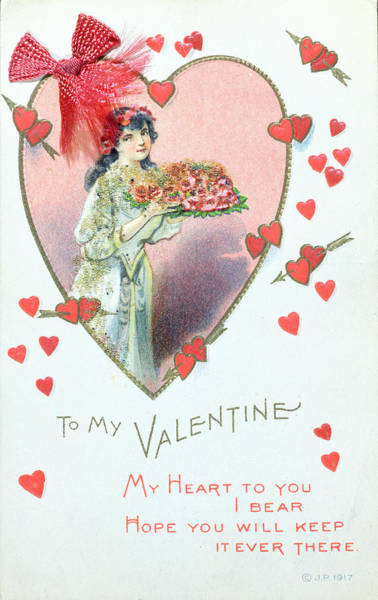 Wwi Wall Art - Painting - Valentine Card by English School