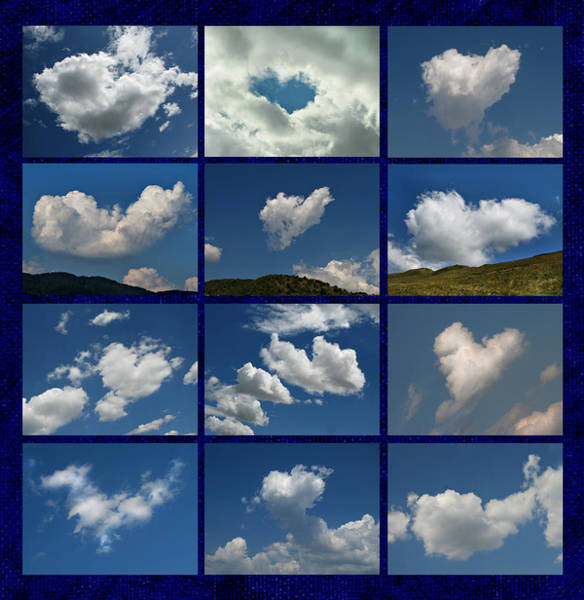Photograph - Valentine - Clouds For Sale Collage by Daliana Pacuraru
