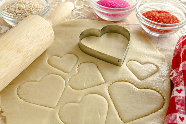 Photograph - Valentine Cookie Love by Teri Virbickis