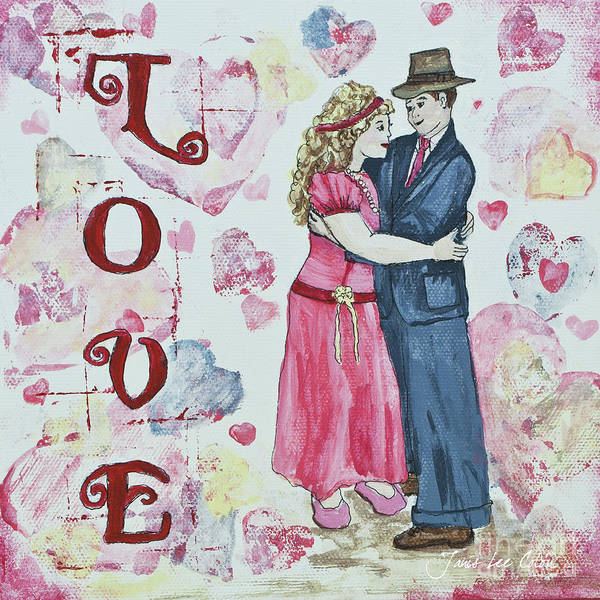 Painting - Valentine Love by Janis Lee Colon