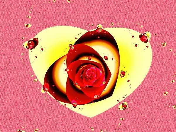 Mixed Media - Valentine Rose by Anastasiya Malakhova