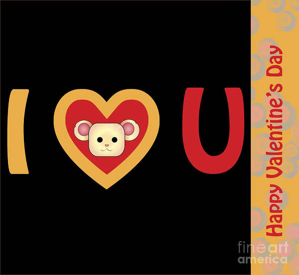 Wall Art - Digital Art - Valentines Day 1 by Affini Woodley