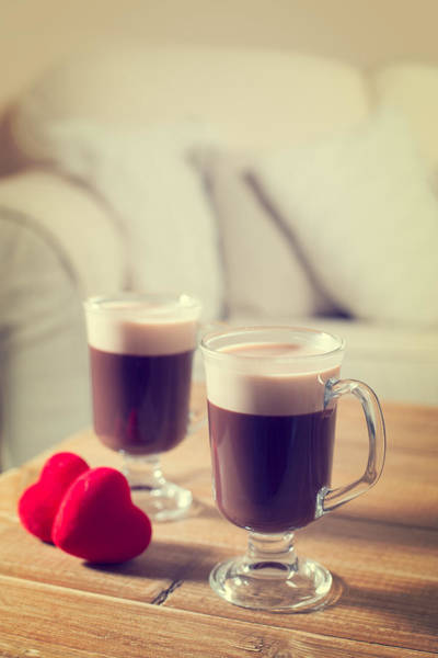 Wall Art - Photograph - Valentines Day Coffees by Amanda Elwell