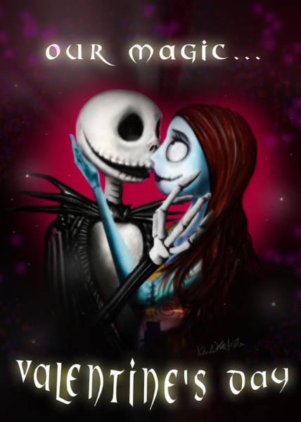 Nightmare Digital Art - Valentine's Day Greeting Card by Alessandro Della Pietra
