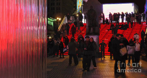 Photograph - Valentine's Day - Times Square by Jeff Breiman
