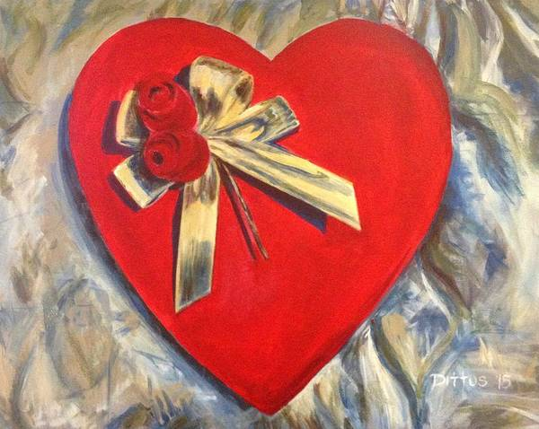 Wall Art - Painting - Valentine's Heart by Chrissey Dittus