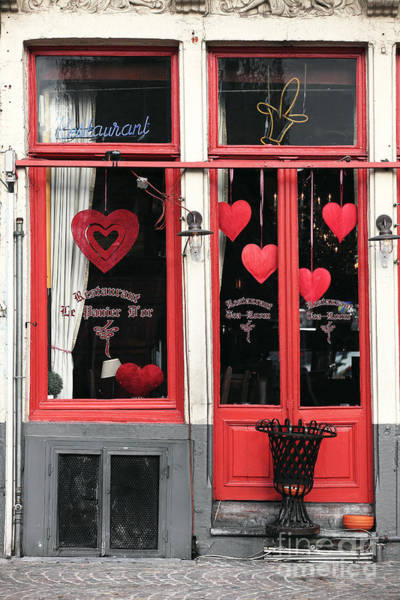 In Bruges Photograph - Valentines In Bruges by John Rizzuto