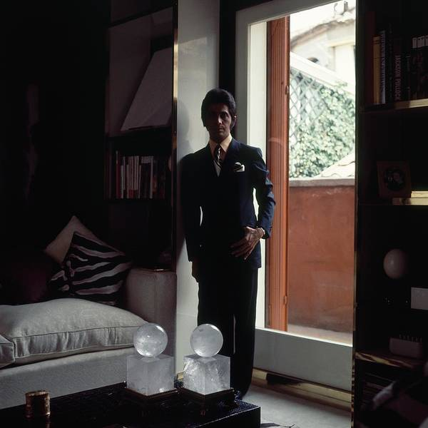 Apartment Photograph - Valentino In Shadow by Horst P. Horst
