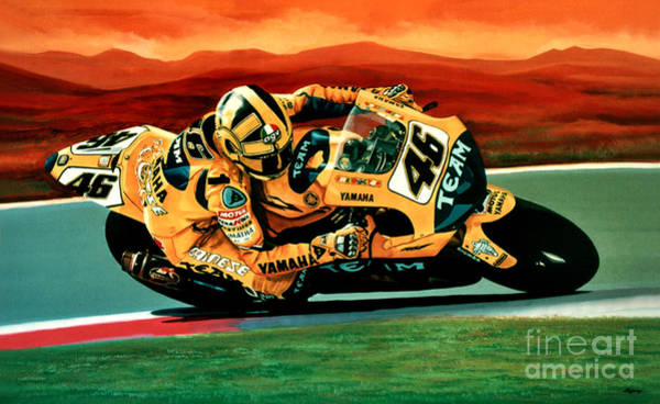 Goat Painting - Valentino Rossi The Doctor by Paul Meijering