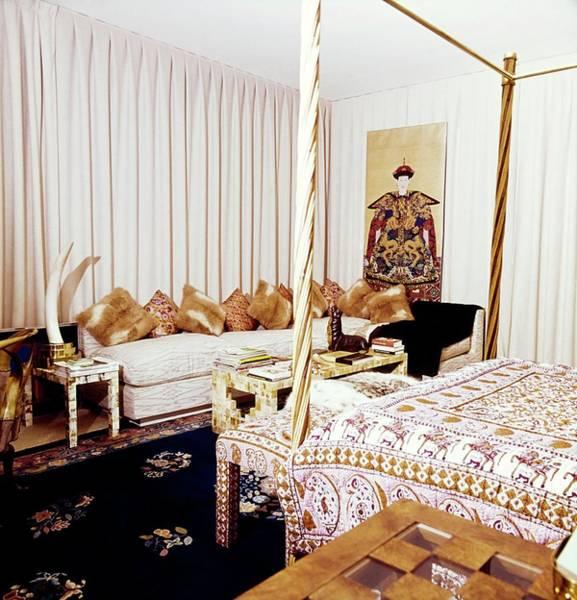Wall Art - Photograph - Valentino's Bedroom by Horst P. Horst