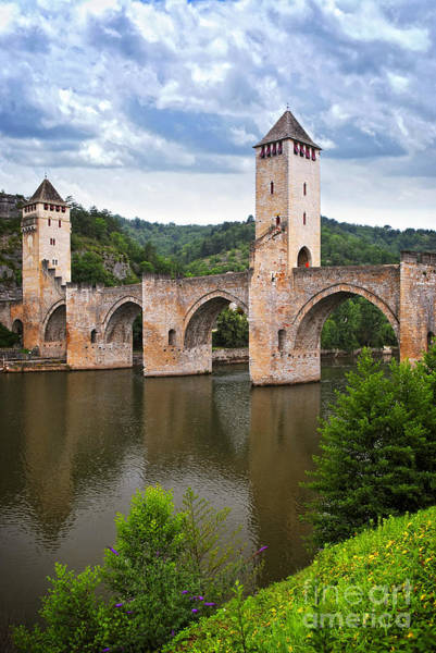 Wall Art - Photograph - Valentre Bridge In Cahors France by Elena Elisseeva