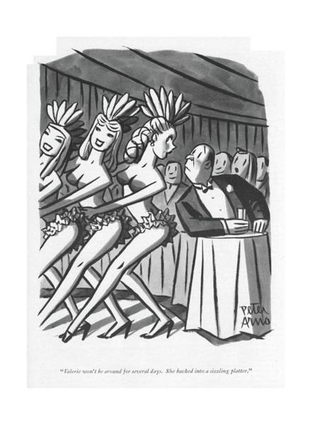 May 7th Drawing - Valerie Won't Be Around For Several Days by Peter Arno