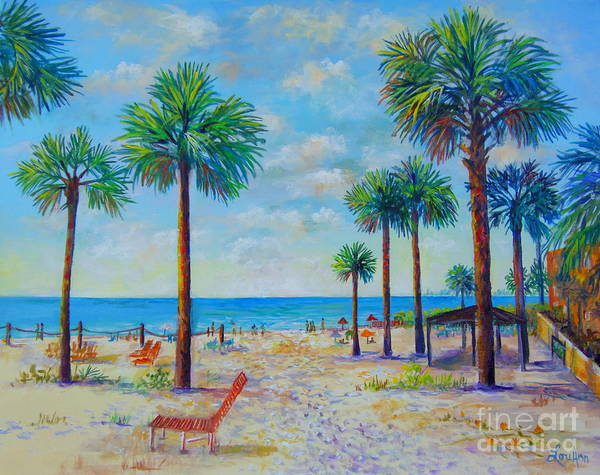 Wall Art - Painting - Valerie's View Of Siesta Key by Lou Ann Bagnall