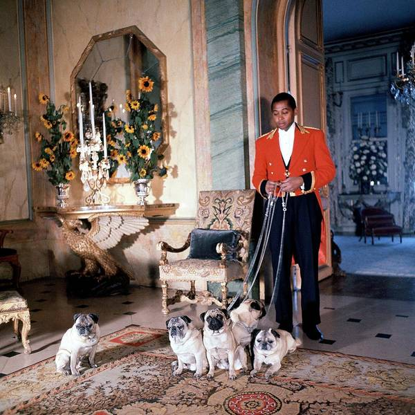 Home Accessories Photograph - Valet Sydney Standing With The Duke And Duchess by Horst P. Horst